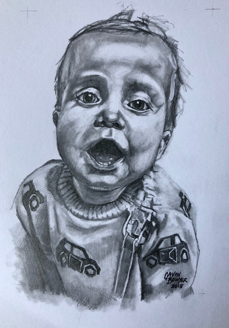 Stanley, A5 pencil drawing