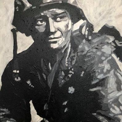 """John Wayne - Sargeant Stryker 30x20"""""""